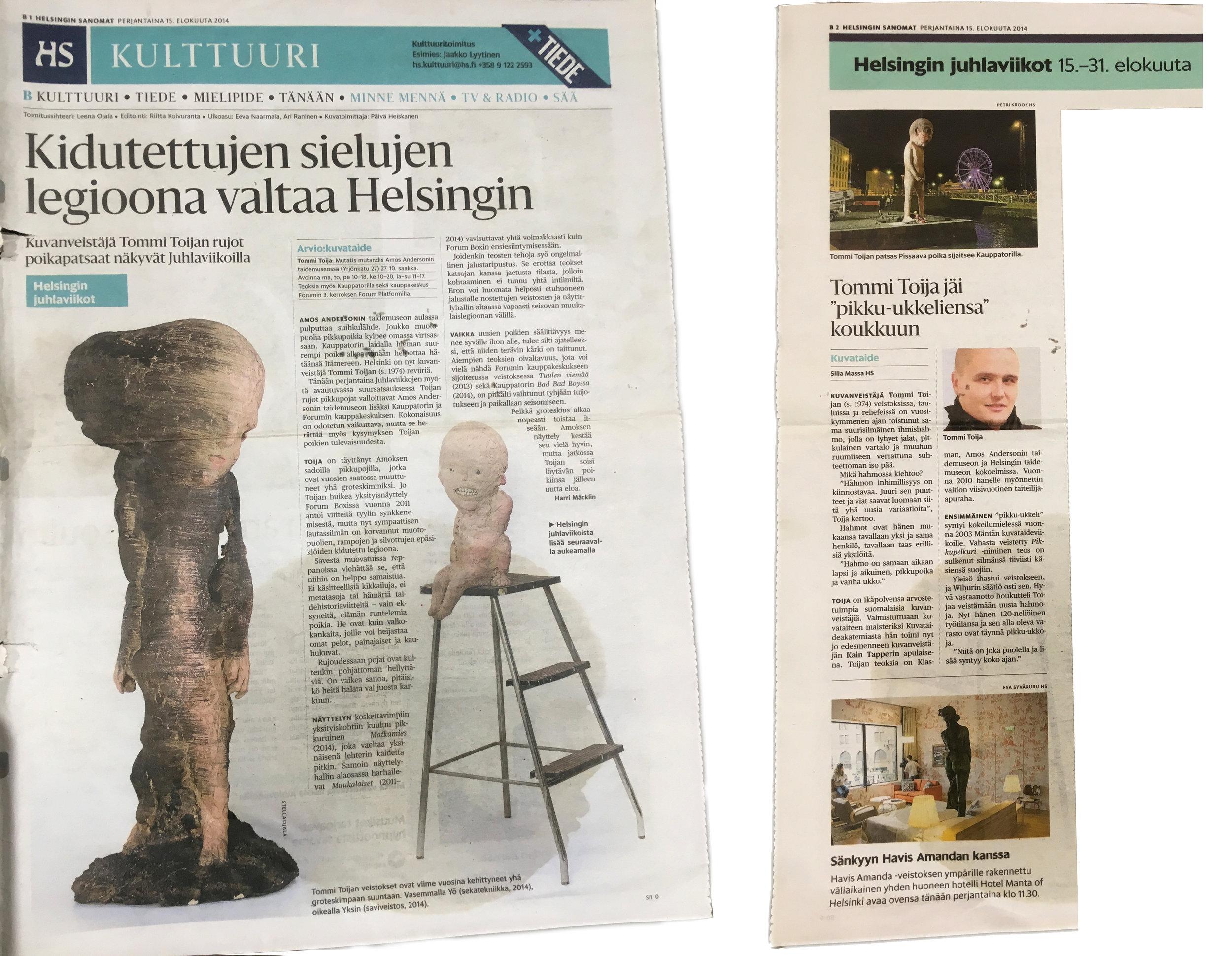 HELSINGIN SANOMAT15.8.2014 -