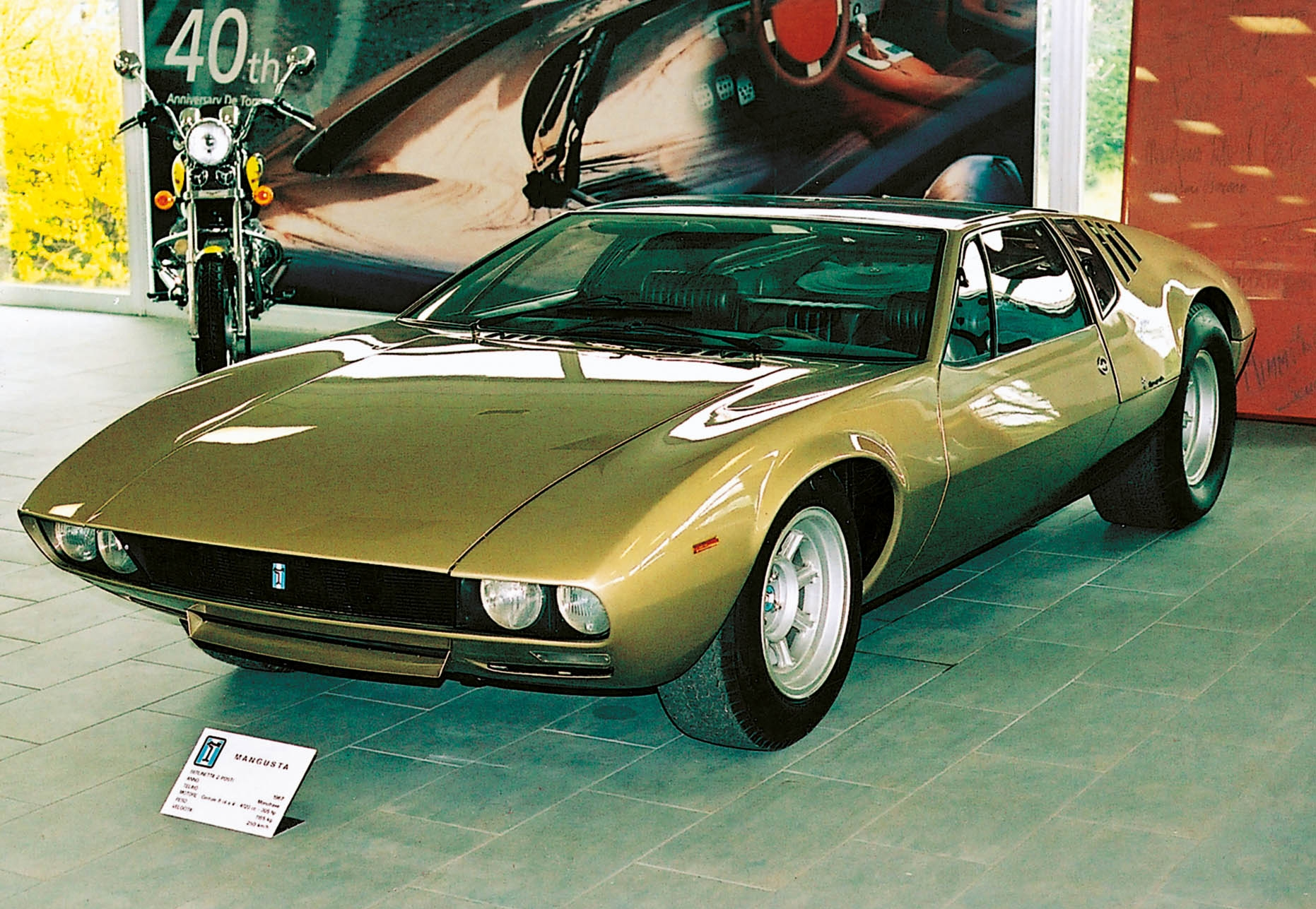 The famous gold Mangusta prototype.