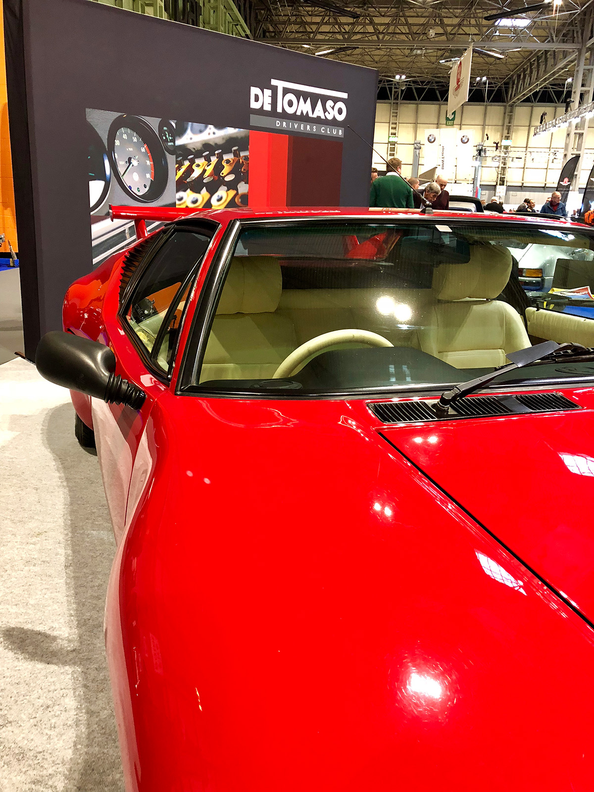 The De Tomaso UK Drivers Club showcases at the NEC Classic Motor Show November 2018