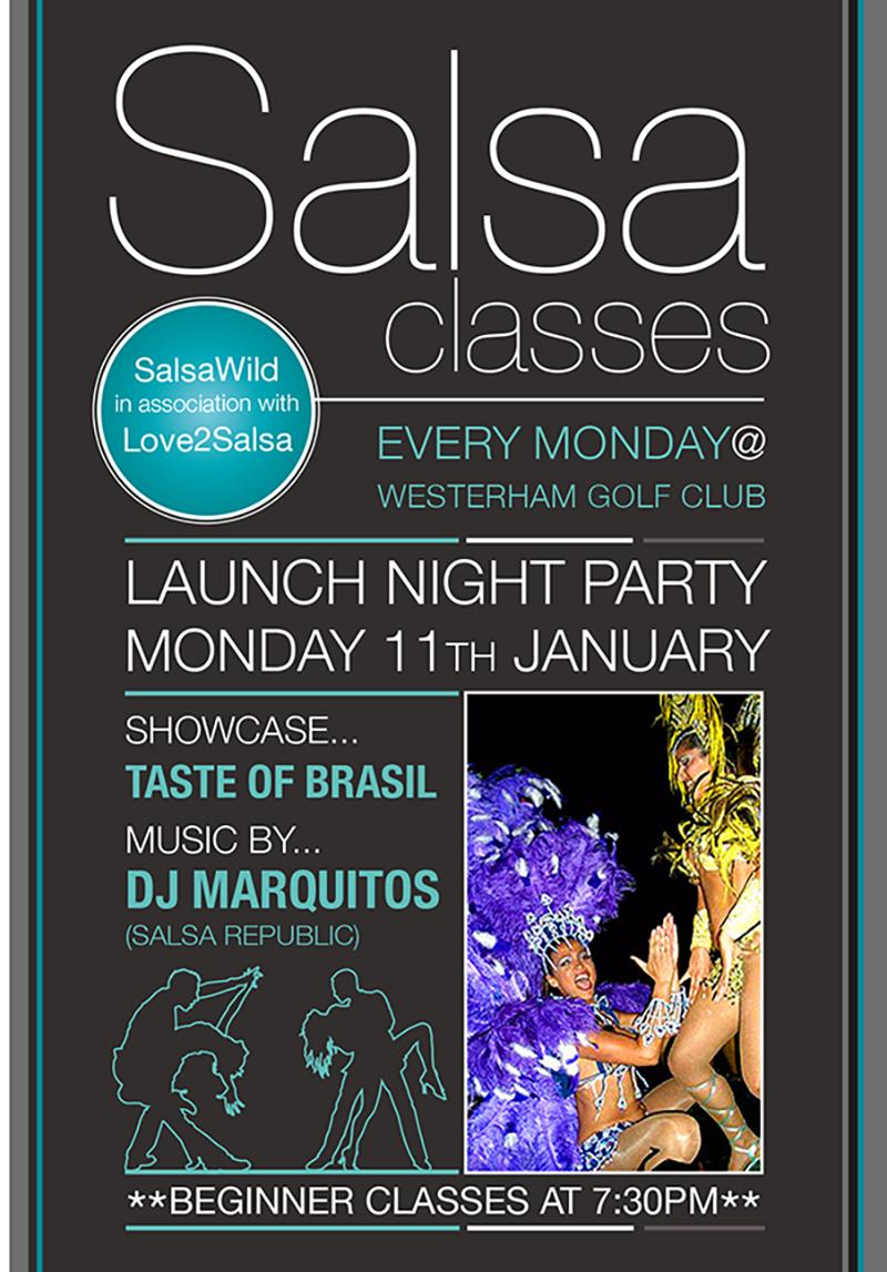 Salsa classes flyer