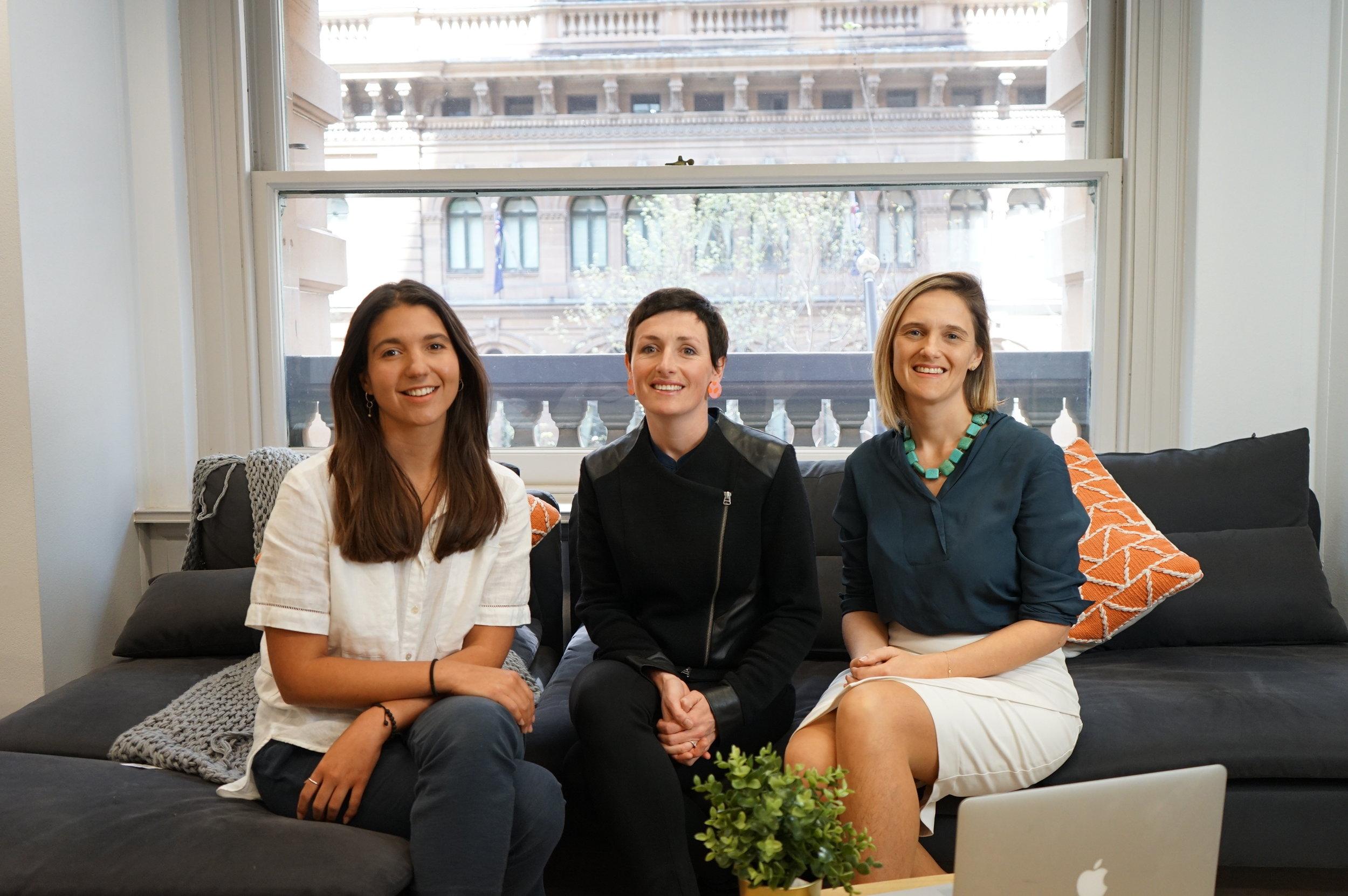 Alex, Zoe & Chrissy - Founders of Verve Super.