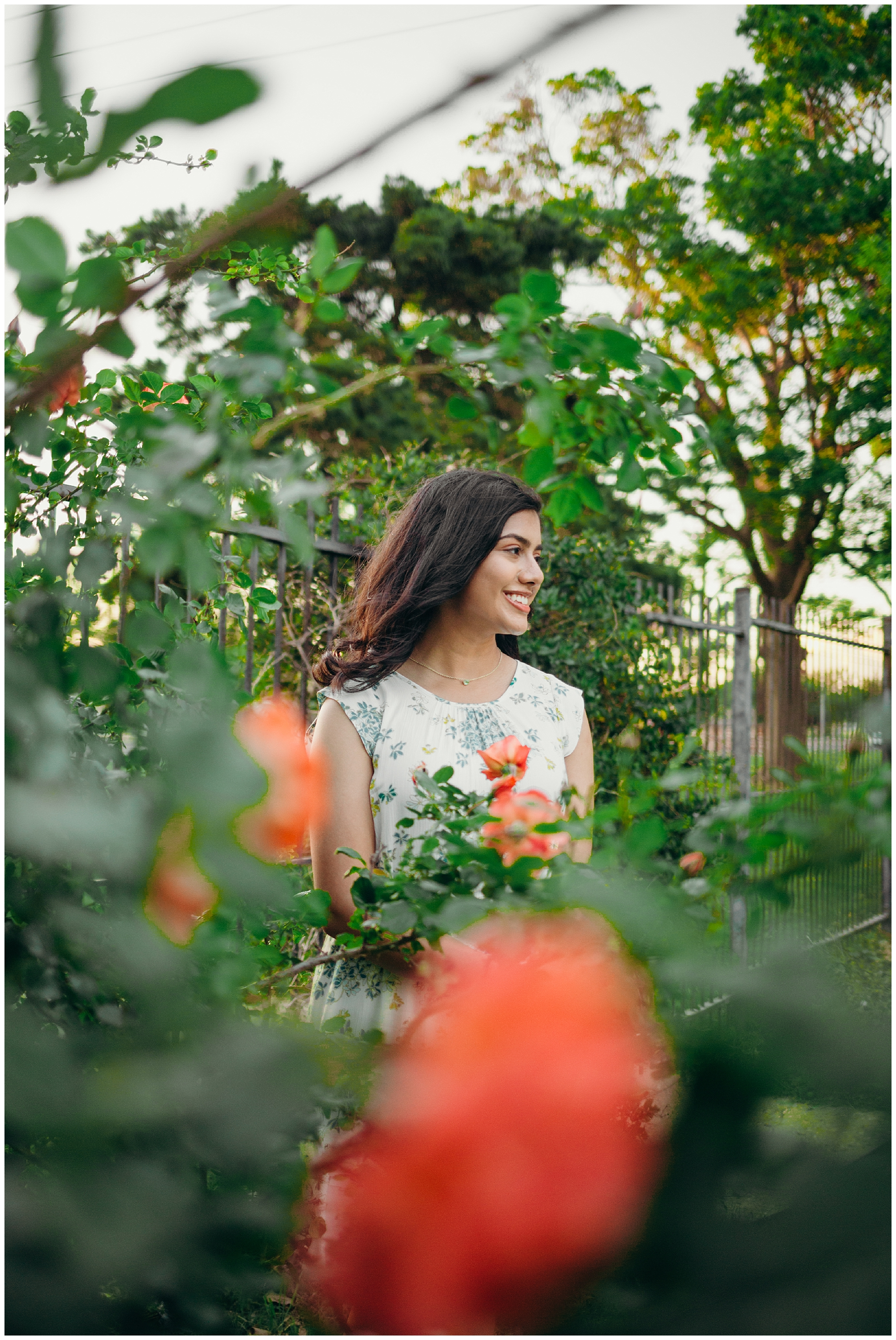 botanic garden senior session