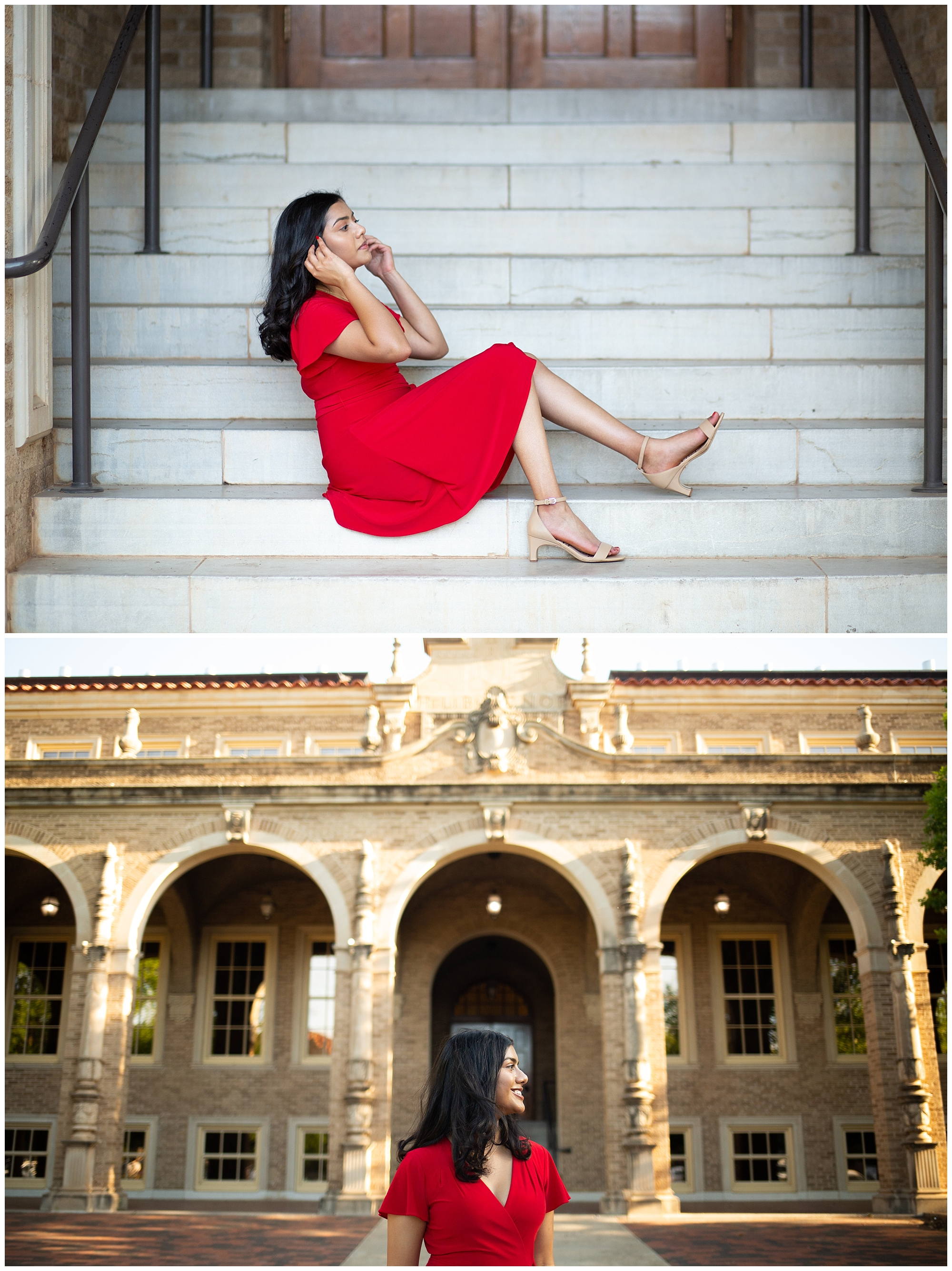 chemistry building senior portraits in Lubbock, Texas