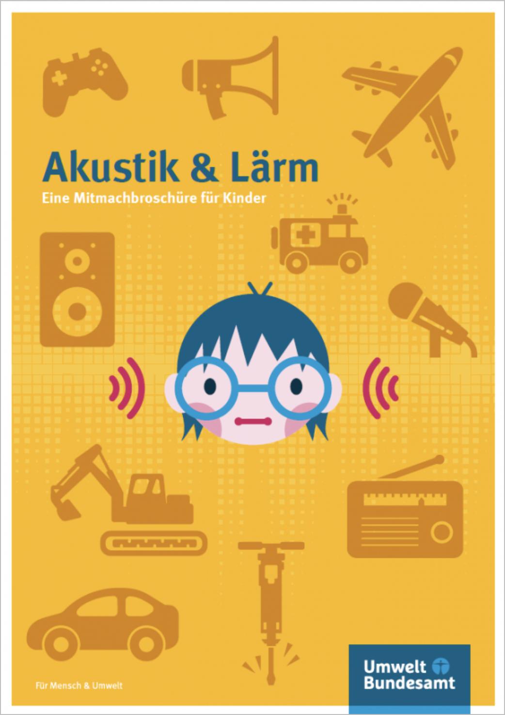 """Akustik & Lärm: Eine Mitmach-broschüre für Kinder - In dem vorliegenden Bildungsmaterial wird das Thema """"Lärm"""" aus verschiedenen Perspektiven beleuchtet. Die Schülerinnen und Schüler lernen das Ohr, den Hörvorgang und die einfachen Grundlagen der Akustik kennen, welche sich spielerisch veranschaulichen lassen. Sie erfahren weiterhin, welche Auswirkungen Lärm auf sie selbst und ihre Umwelt hat und wie man diese Belastung durch eigenes Handeln und Rücksichtnahme vermindern kann.Die Broschüre ist für den Grundschulunterricht gedacht. Viele kleine Experimente, Aufgaben, Rätsel und Spiele machen das Lernen über Hören und Lärm spannend. Eine Handreichung für Lehrerinnen und Lehrer enthält die Lösungen der einzelnen Aufgaben sowie Hinweise dazu.Umweltbundesamt, VÖ: 2014 -> Mehr Infos!"""
