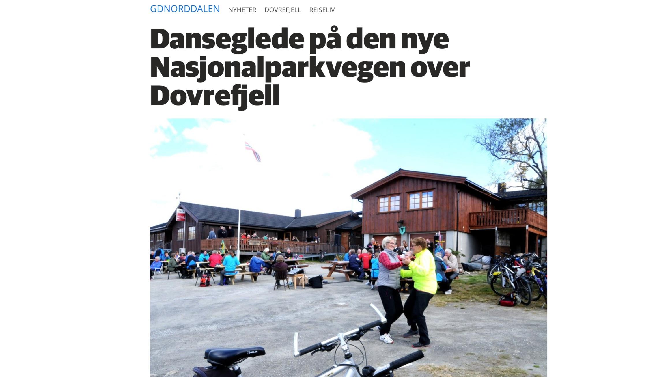Åpning av Nasjonalparkvegen mellom Dombås og Hjerkinn, GD 2017. Klikk på bildet for å lese sak.