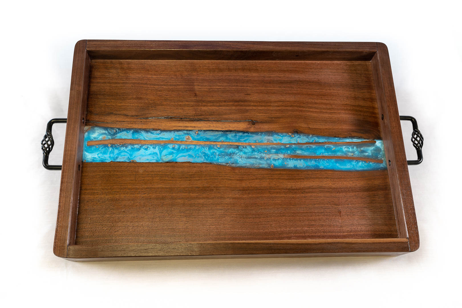 RJC Wood Creations - Serving Tray Blue Resin (1).jpg