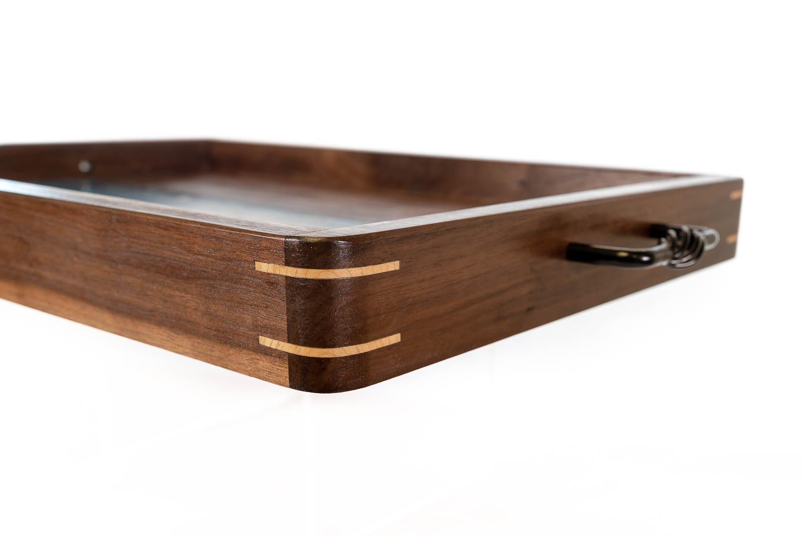 RJC Wood Creations - Serving Tray Blue Resin (2).jpg