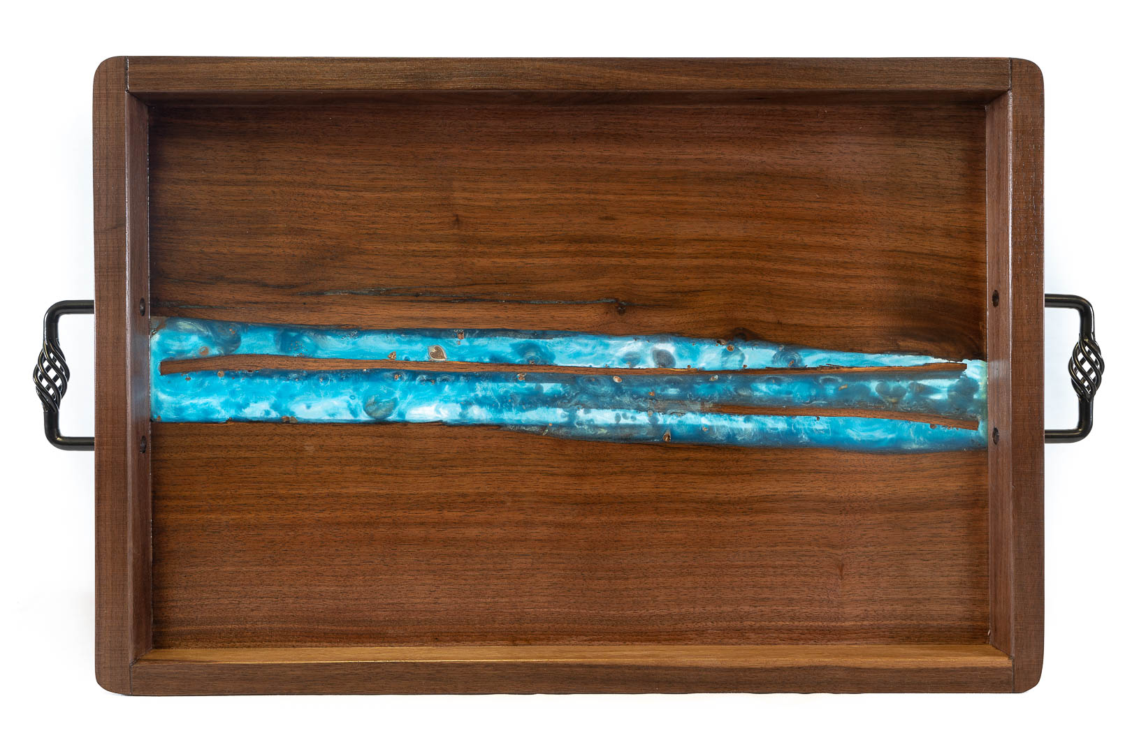 RJC Wood Creations - Serving Tray Blue Resin (3).jpg