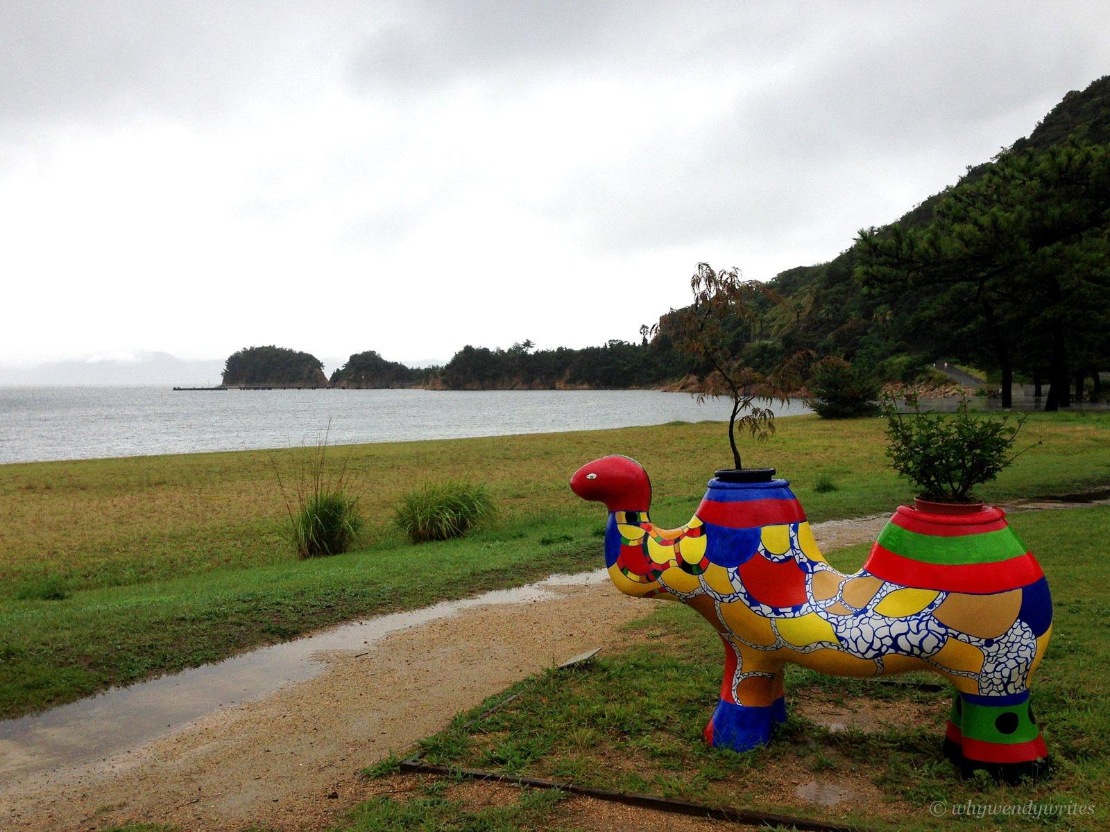 Niki de Saint Phalle's Camel (Benesse House Museum's surroundings)