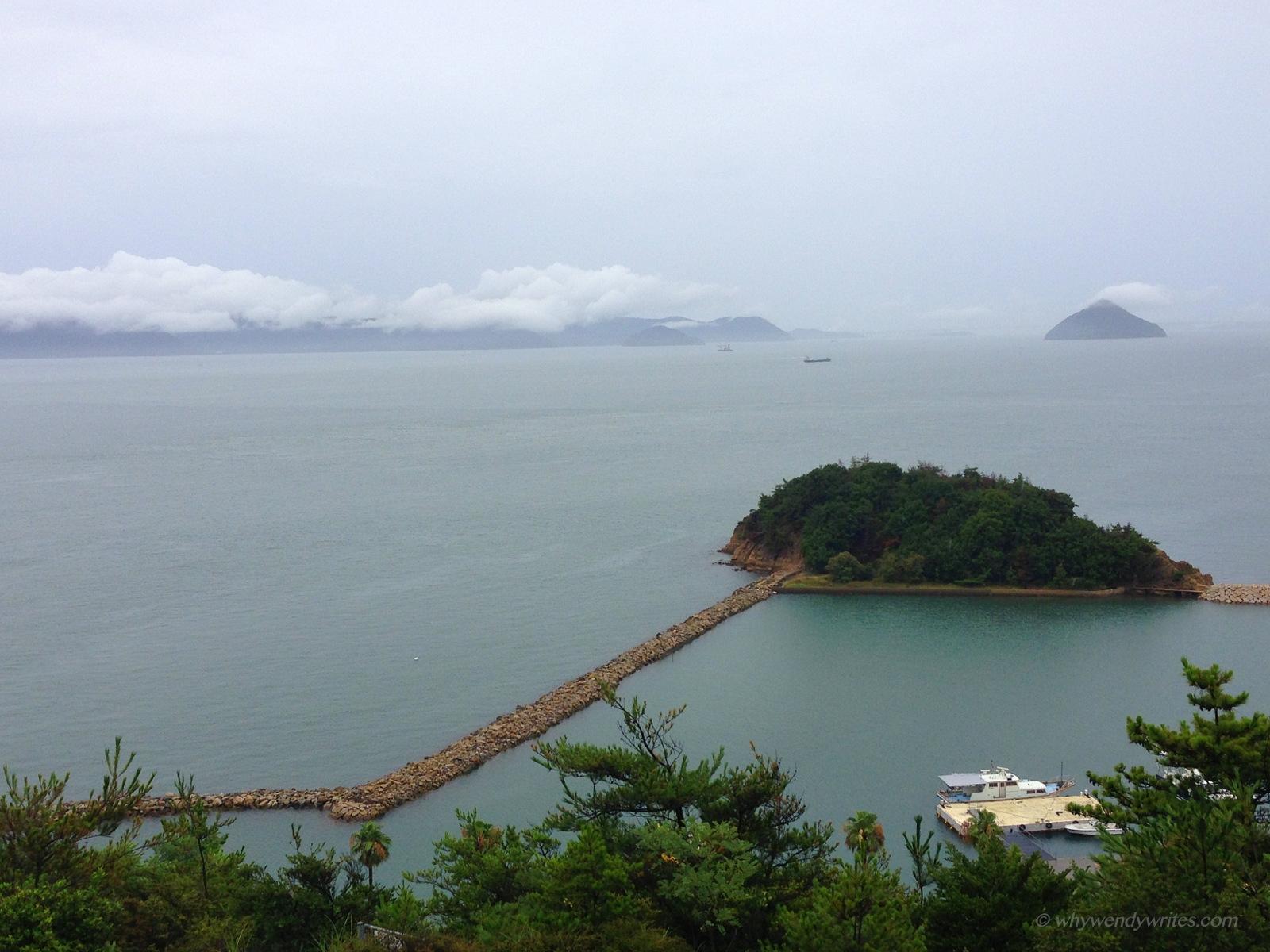 Scenic view of Seto Inland Sea from Chichu Café (Chichu Art Museum's Chichu Café)
