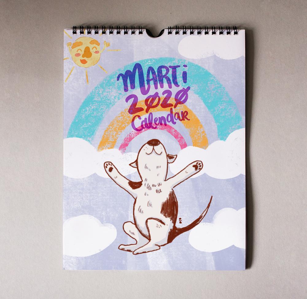 The Marti 2020 Calendar Cover