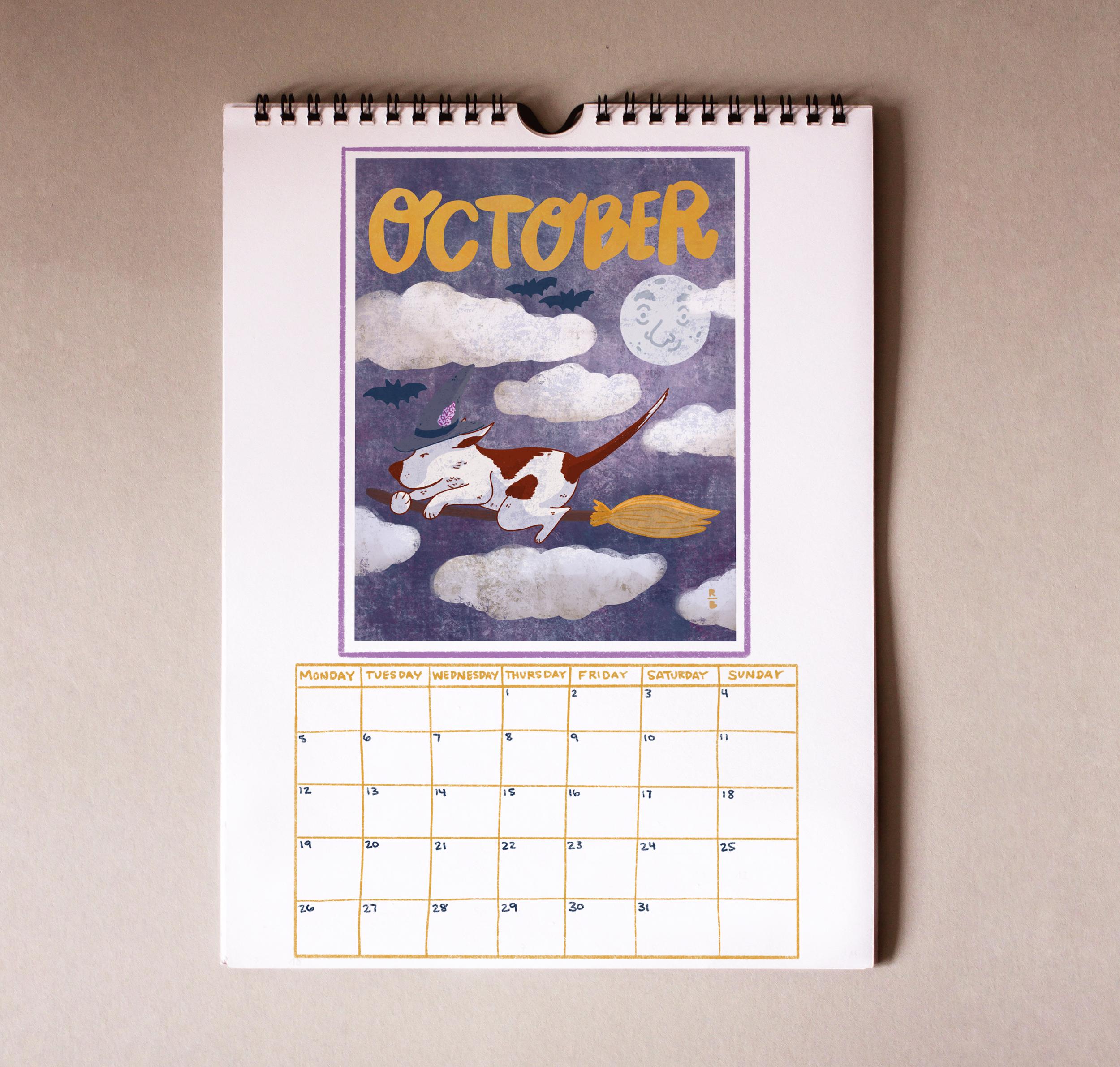 October of the 2020 Marti Calendar