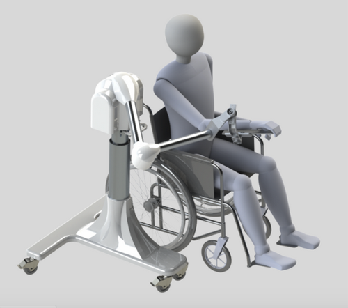 Therapy with a Puck-enabled Proficio allows the user to see and feel 3D objects.