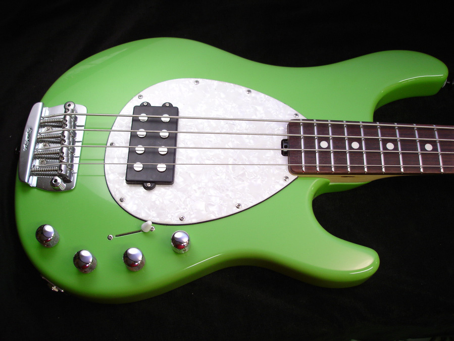 Custom Lime Green MusicMan StingRay bass