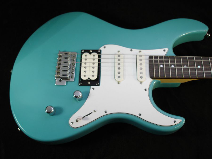 Teal Colour Custom Super Strat style Guitar