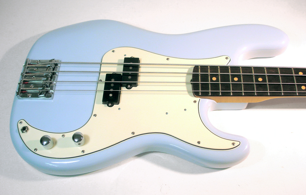 Sonic Blue Custom Vintage Fender Precision Bass