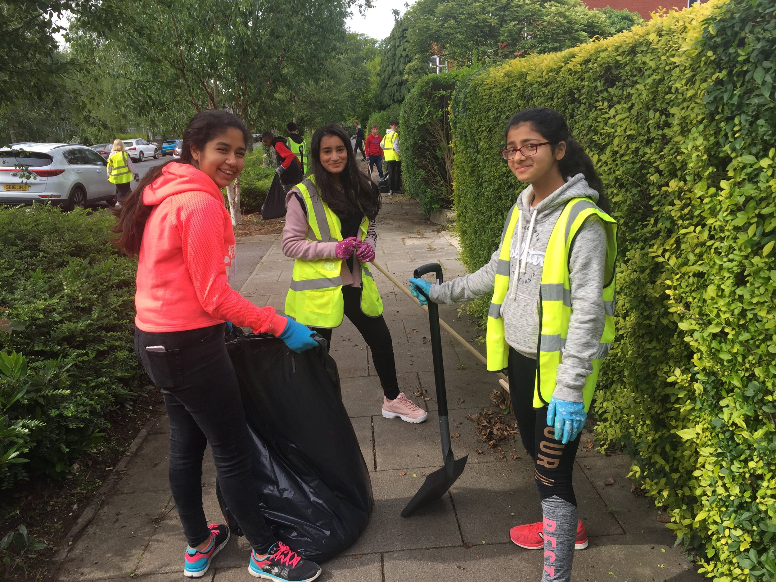 Our Year 8 students spent the morning clearing litter in the local community.