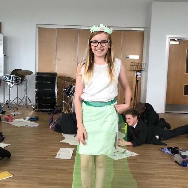 Carrying on with their 'A Midsummer Night's Dream' work, a group of Year 7's created their own 'Titania' costume.
