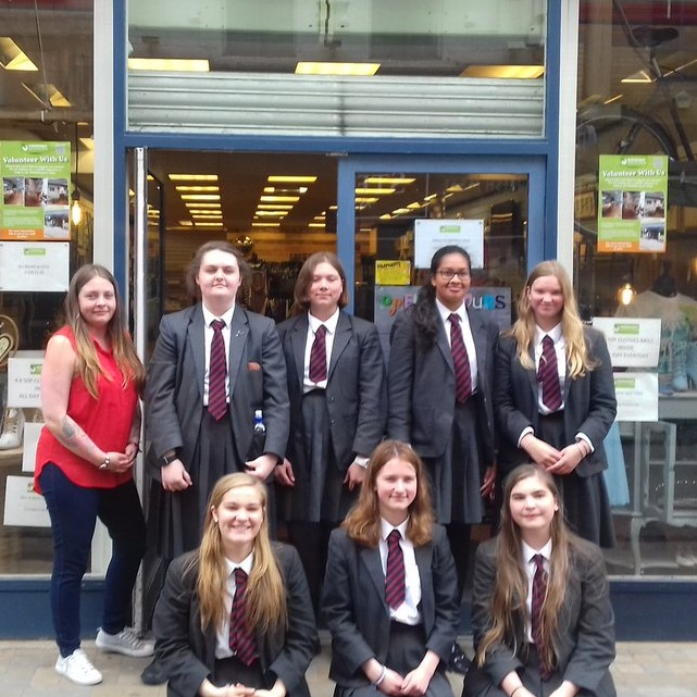 A handful of Year 9 students helped out at Emmaus' Emporium Shop!