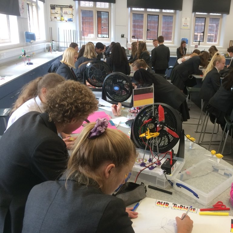 Year 10 took part in a STEM workshop where they competed in teams to make the most efficient wind turbine.