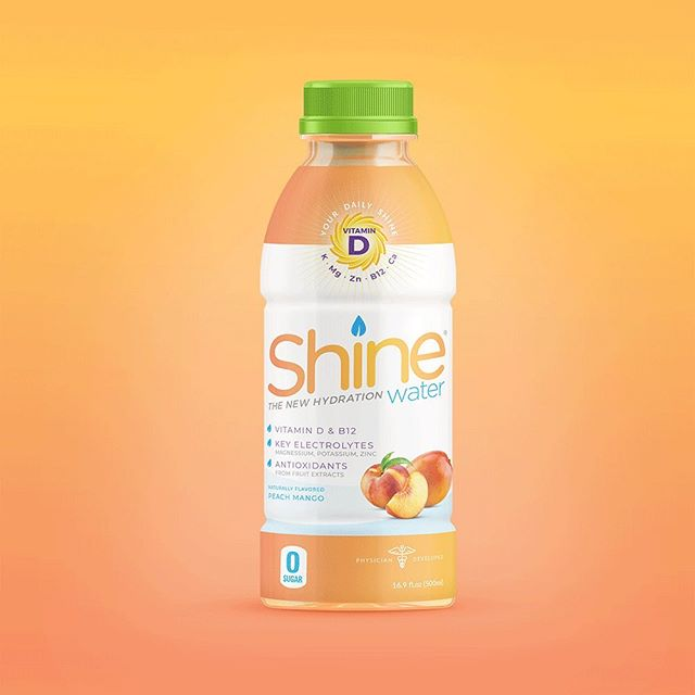 Summer in a bottle...prepare your tastebuds- the new Peach Mango is coming soon!! ☀️💦🤙🏼#youwereborntoshine  #ShineWater #thenewhydration #electrolytes #antioxidants #viatmind #nosugar #healthylifestyle #chs #summer2019 #shineon