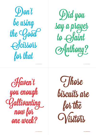 Tea towels from www.irishmammies.ie