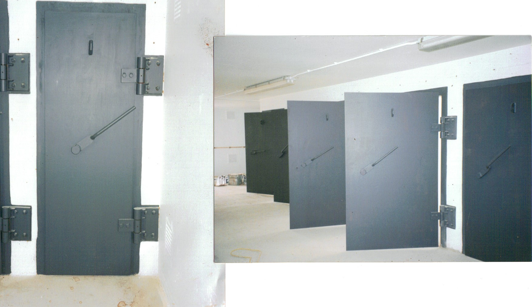 Blast doors for the Ministry of Defence  providing protection for our forces and there  equipment.