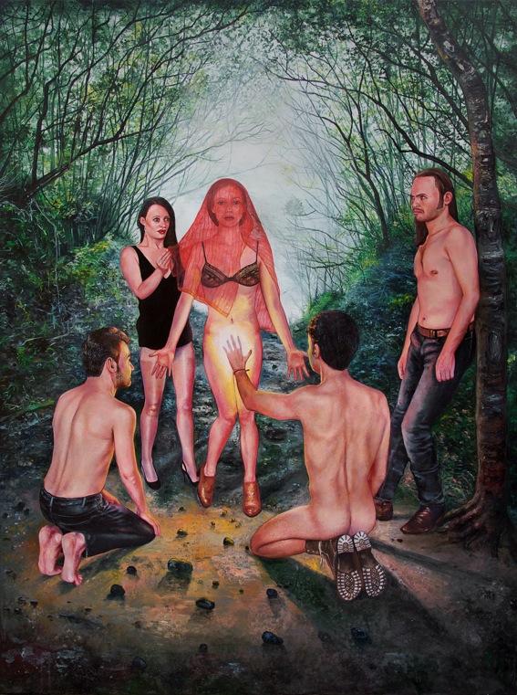 Je jure de t'aimer jusqu'à l'aube  - 2017  Oil on canvas, 130 x 97 cm