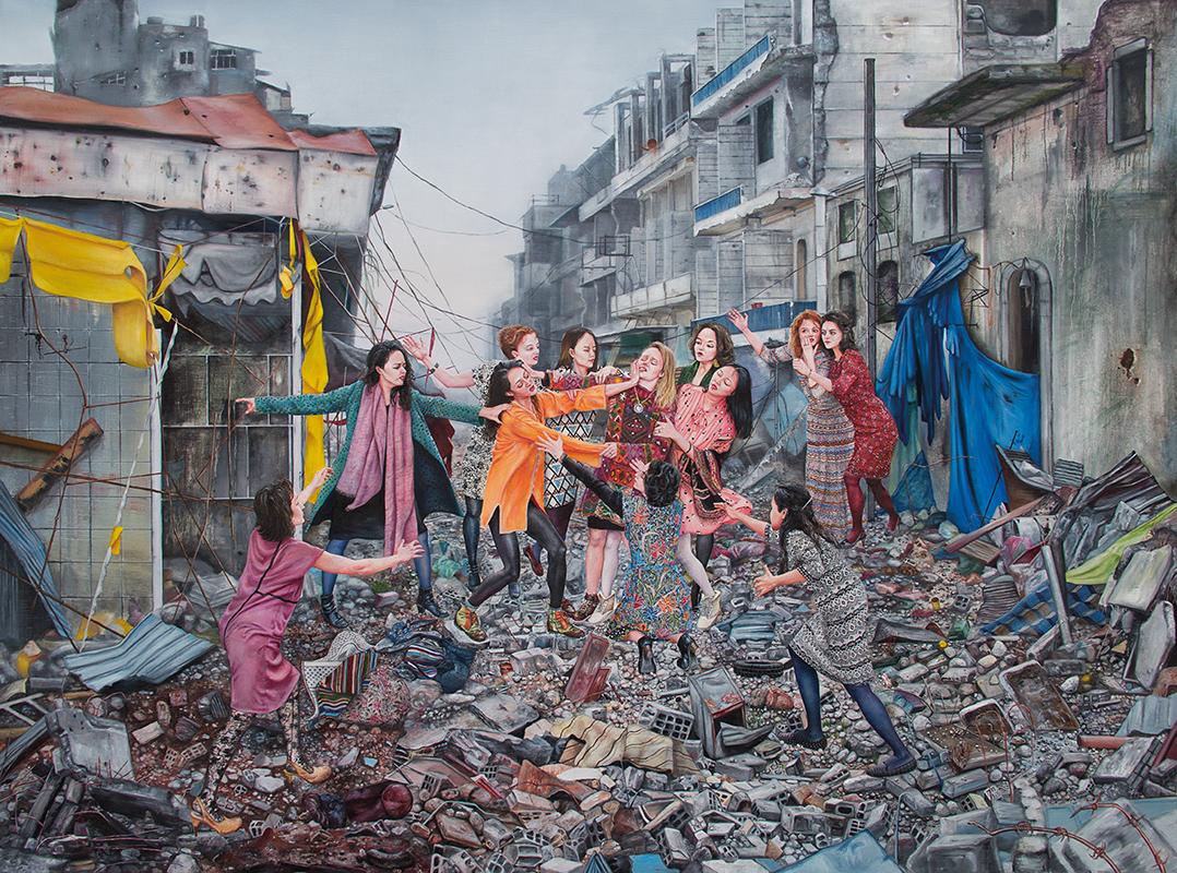 La cité céleste    - 2016  oil on canvas, 185 x 250 cm