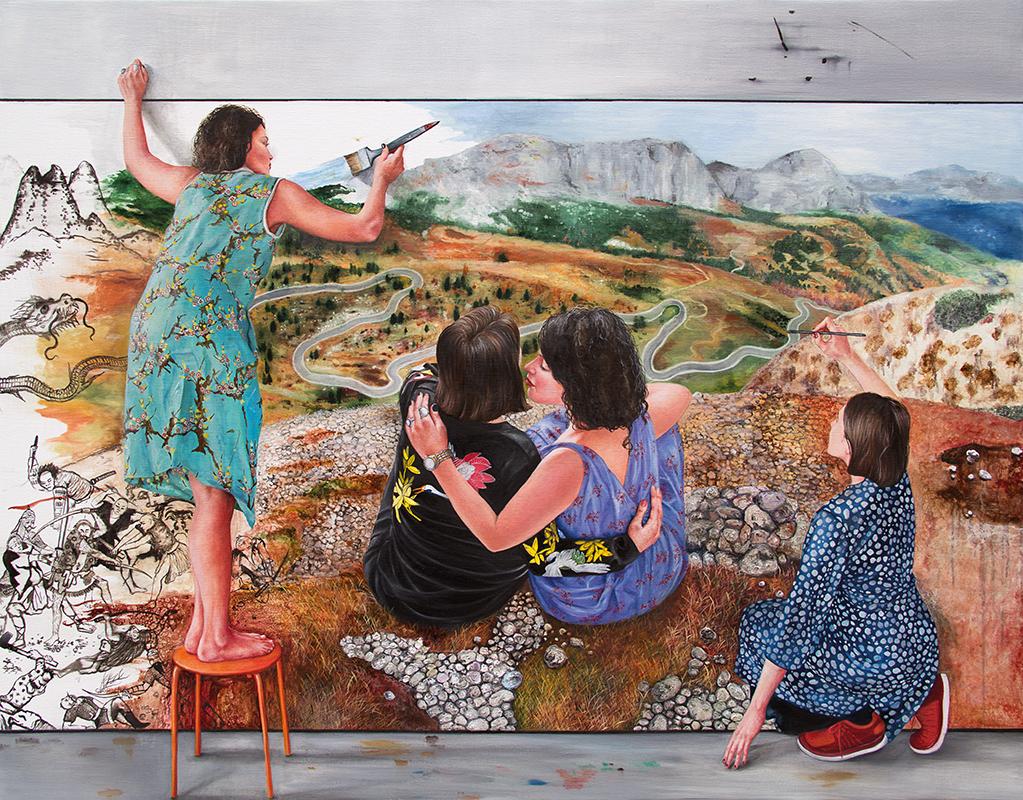 Occupation du monde    - 2016  Oil on canvas, 114 x 146 cm