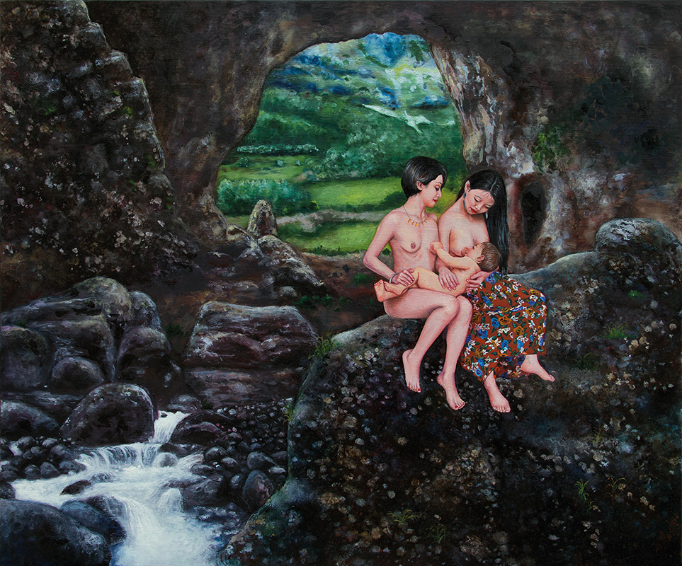 Le voyage souterrain  - 2015  Oil on canvas, 54 x 65cm