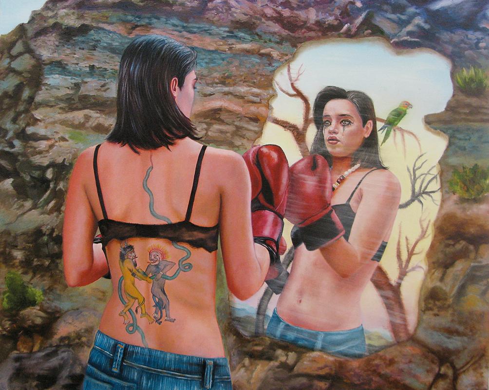 Des adieux - 2009  Oil on canvas,65 x 81cm