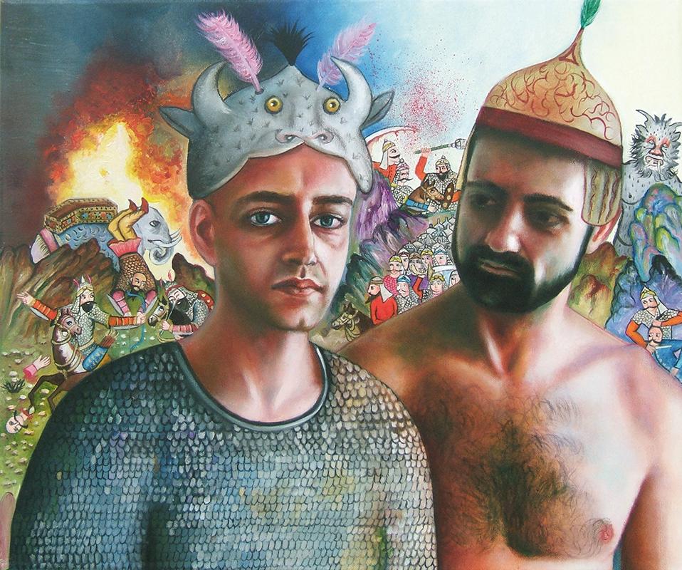 Farhad et Kamyar - 2009  Oil on canvas,46 × 55cm