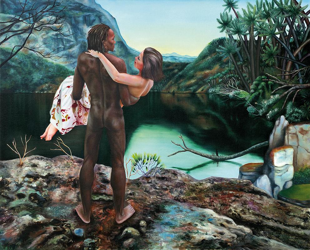 Histoires naturelles I  -  2009  Oil on canvas,130 x 162cm