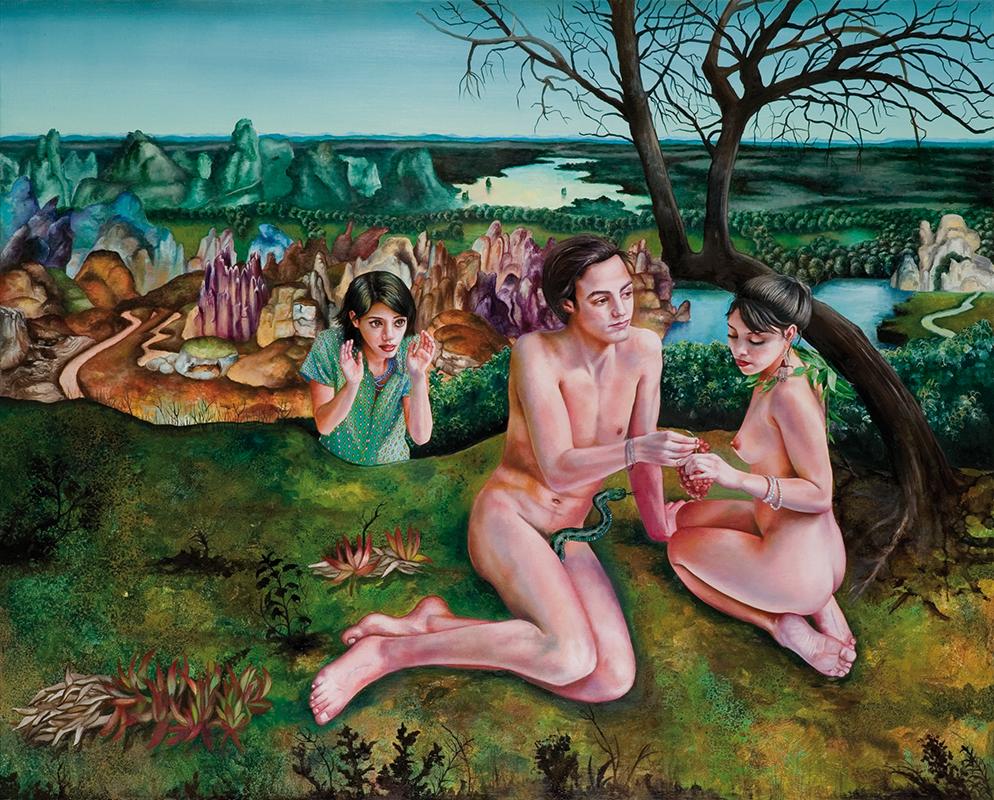 La tentation - 2009  Oil on canvas,130 x 162cm