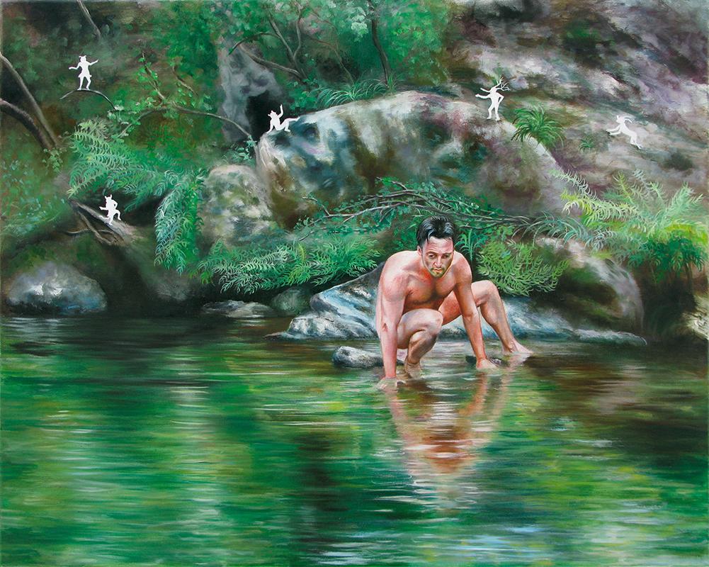 Le rocher immortel  -2009  Oil on canvas,65 x 81cm