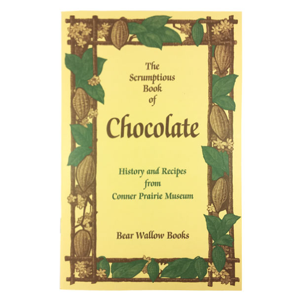 Chocolate - The Scrumptious Book of CHOCOLATE: History and Recipes from Connor Prairie MuseumAn Aztec ruler drank 50 cups of chocolate a day! In early America, chocolate was known to build up resistance and fight fatigue, as well as to help digestion. Those are good reasons to try the 49 wonderful old recipes for beverages, cakes, cookies, pies, puddings, ice cream and candies - if you need reasons, that is.