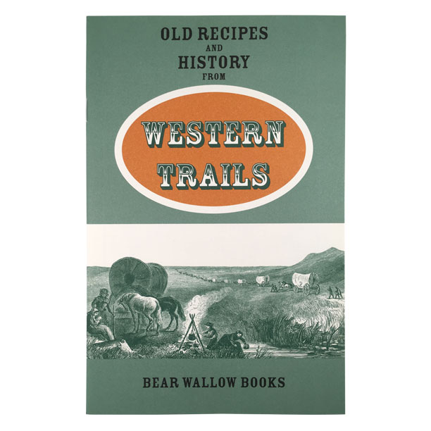Western Trails - Old Recipes and History from Western TrailsTravel by wagon train was slow and difficult, but also an adventure. Historical descriptions of daily life accompany 68 recipes for 19th century foods, adapted for modern tests. Sourdough breads, Chuck Wagon Beans, Buffalo Stew and Fried Apples are tasty reminders of the old west.