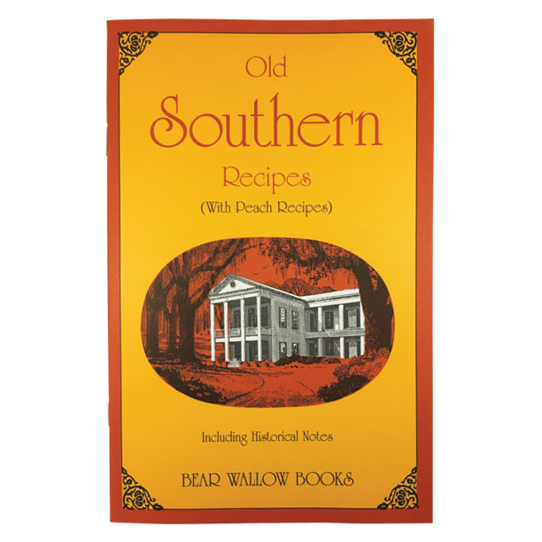 Southern - Old Southern Recipes: with Peach RecipesHistorical notes scattered through the book describe the origins of Beaten Biscuits, Hoppin' John, Kentucky Burgoo and Bruns-wick Stew, as well as other traditional southern dishes. 56 recipes include breads, biscuits, side dishes, soups, stews and desserts. Peach recipes include desserts, muffins, jam, preserves & spiced peaches.