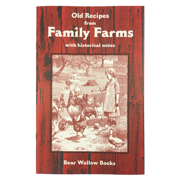 Family Farms - Old Recipes from FAMILY FARMS: with Historical NotesFrom farming in the colonies, through the westward movement, to the 1930s, when electricity reach the farm, the history is fascinating! The 71 recipes come from rural areas throughout the U.S. and include such favorites as Chicken and Corn Soup, Chicken Fricassee, Oatmeal Bread, Country Baked Beans and Ice Box Cookies.