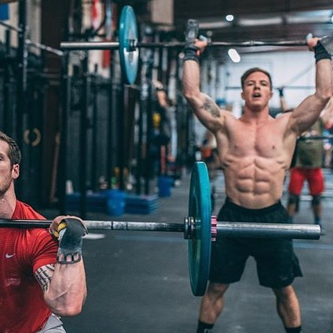 How many Hang Power Cleans and Shoulder to Overhead reps (95/65) do you think you can do in a minute back to back?! Noah, Chase, and the @appalachiangames are challenging you to take on this challenge. We are giving away an entry to The Appalachian Games on May 3-5th (individual May 3, team on May 4&5) in Asheville, NC (or, for those who can't attend, a free @condor_outdoor pack/duffle loaded with fitness goodies!) to the top score that can beat the best score from this squad AND to one random participant who does the challenge! Post a video of you and at least some of your reps, tag me and @appalachiangames, and use hashtag #fittestinthemountains to enter! Winners will be posted on April 21st! . . *Important details 2 minute running clock Min 1 amrap hang power clean,  Min 2 amrap shoulder to overhead  95lb for men, 65lb for women Film entire workout to claim and confirm score for top prize