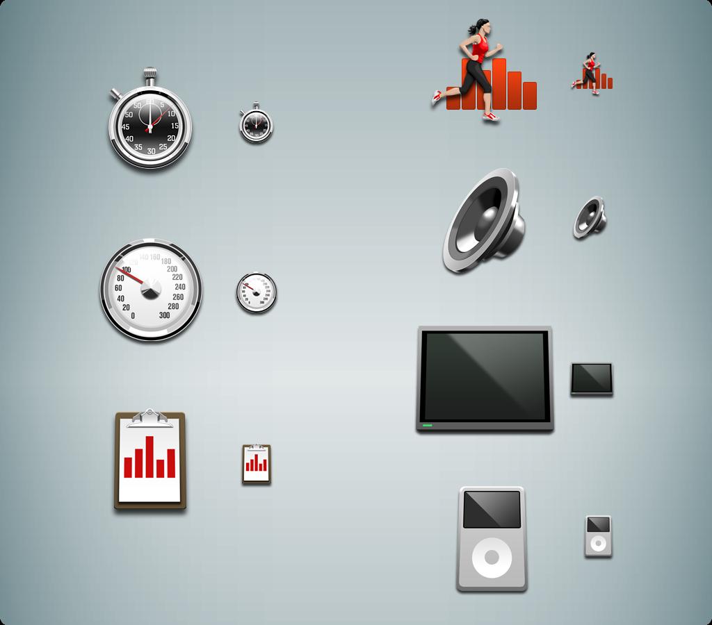 On-screen Icon set.