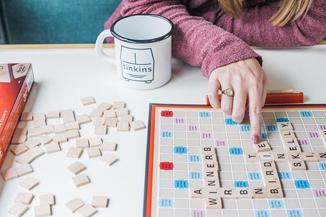 Birdie is equipped with plenty of board games! What is your favorite board game? . . . . #booknow #airbnb #winner #birdie #tinkins #skelly