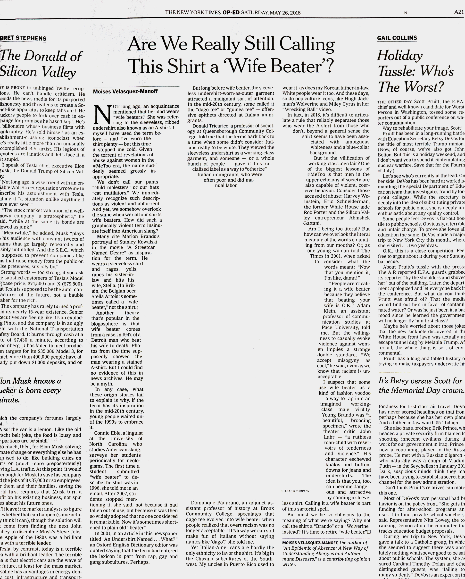 Are We Really Still Calling This Shirt a 'Wife Beater'?
