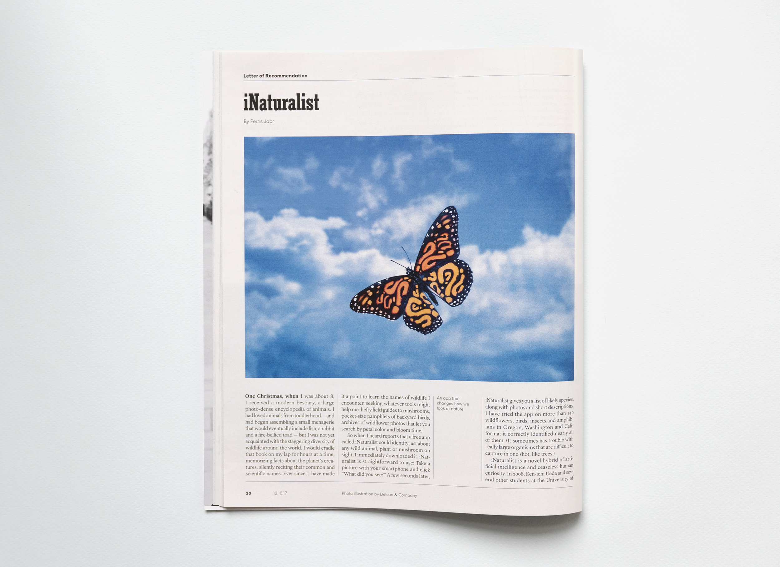 iNaturalist. Letter of Recommendation. The New York Times Magazine.