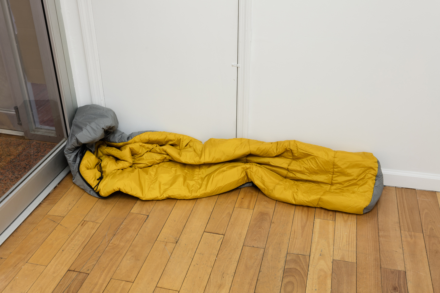 Phoebe Berglund,  The Sleeper,  2019. Nylon sleeping bag. Dimensions variable.