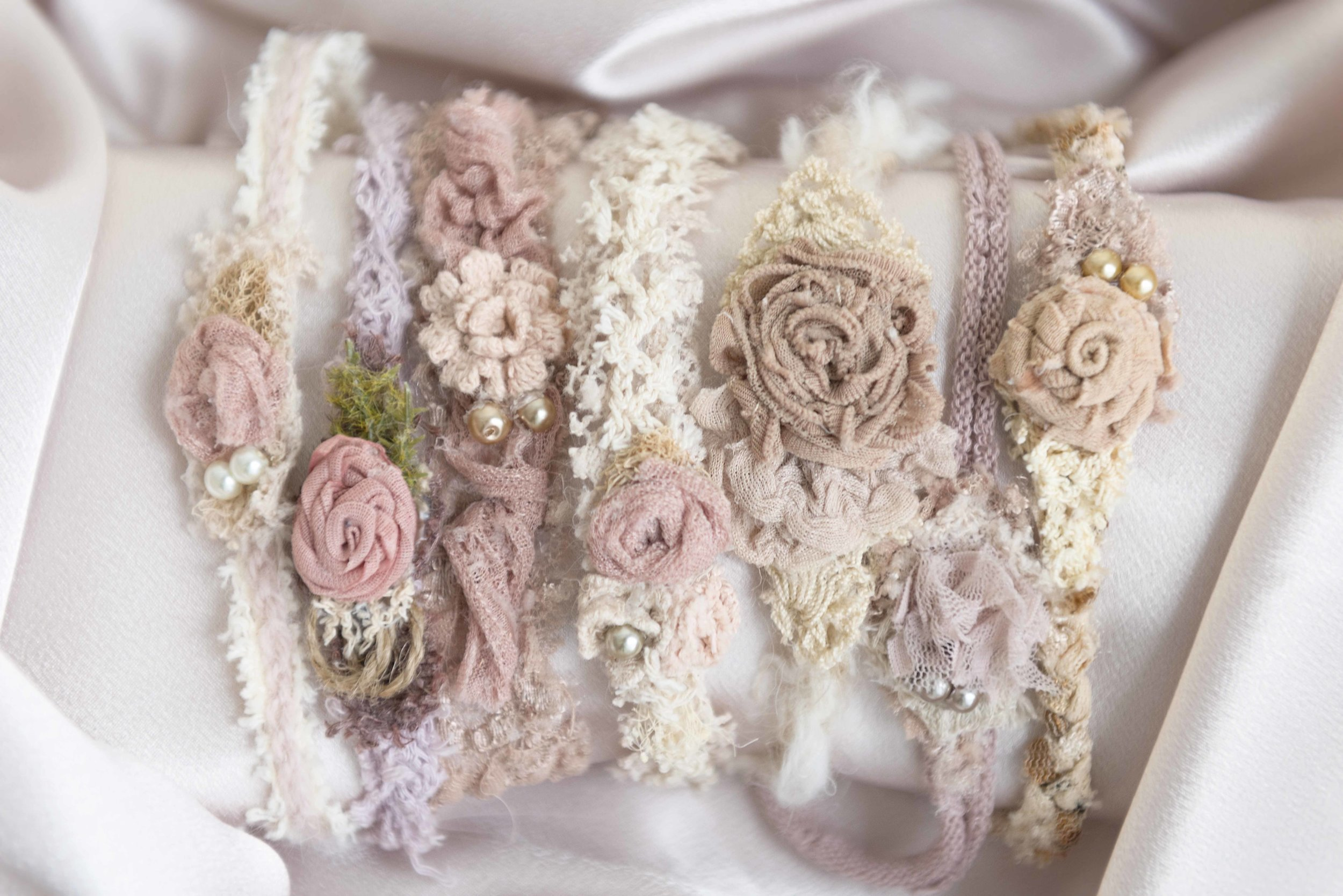 Our selection of headbands for newborn baby girls are the right touch of natural and feminine.