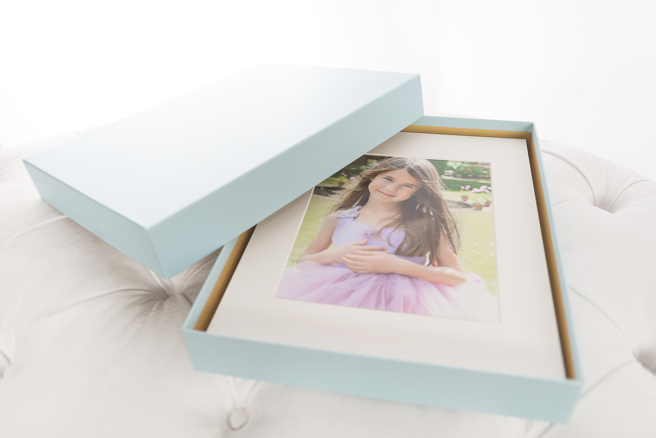 Our beautifully boxed, 11 x 14 matted, 8 x 10 print product.