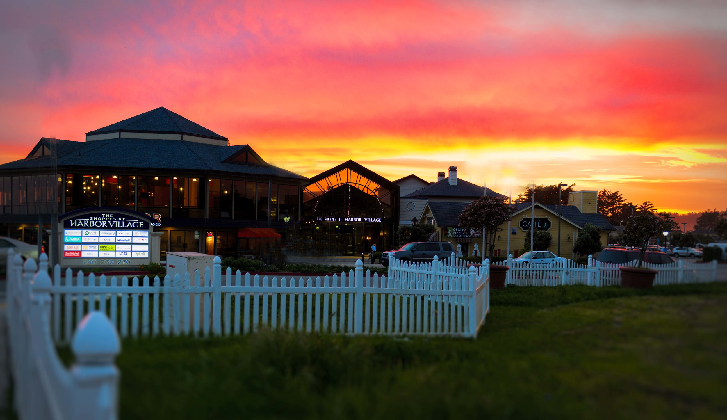 "Another spectacular sunset at the ""Shoppes""."