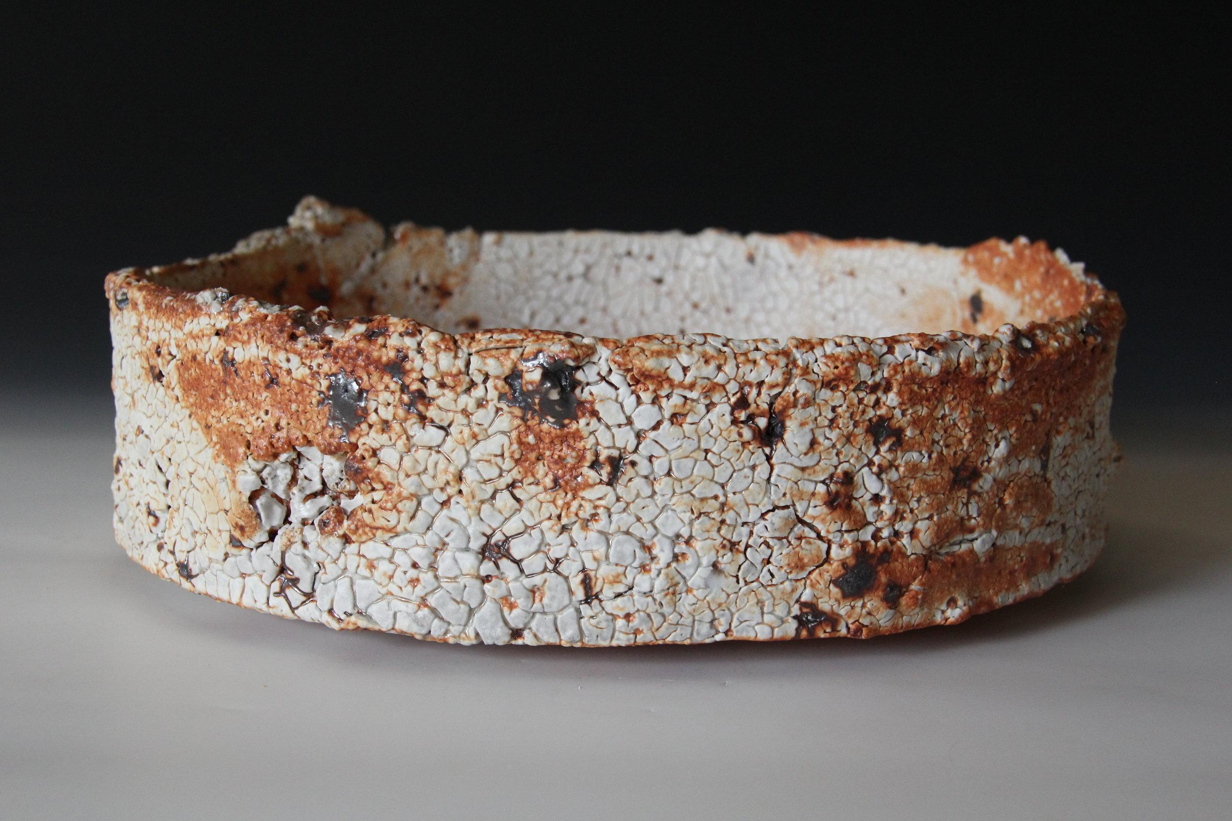 3.  Sandy Lockwood - 'Subduction Series' -  bowl - woodfired saltglazed stoneware- 33 x 9.5cm.JPG